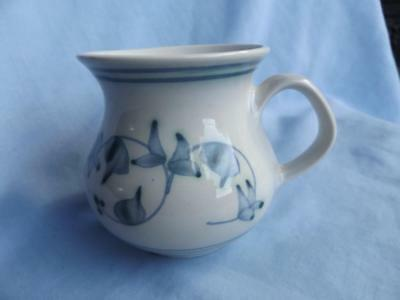 Rye Pottery Jug Blue Floral Design Perfect