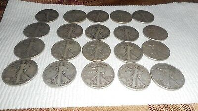 Roll of Walking Liberty Half Dollar Mixed Dates $10 Face Value