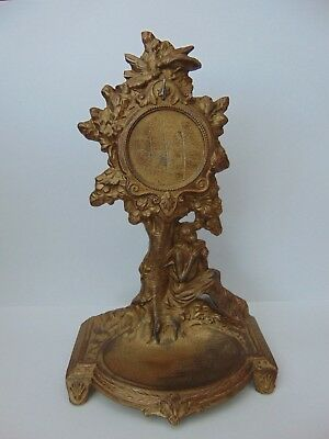 Antique French Gilt Metal Table Pocket Watch Holder Stand