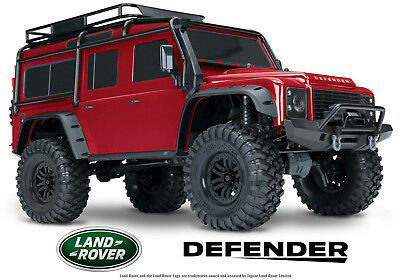 Traxxas Trx 4 Red Defender Rock Crawler Radio Controlled Landrover With Batte...