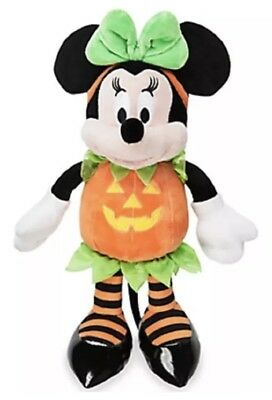 New Disney Store Minnie Mouse Plush Halloween Pumpkin 15'' 2016 Doll Toy NWT *5*