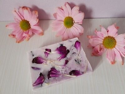 Handmade natural soap with petals gifts-lavender moisturizing bath body pamper