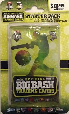 2017/18 Tap N Play ... BBL & WBBL STARTER PACK .. 3 Packets Cards + Helmet Card.