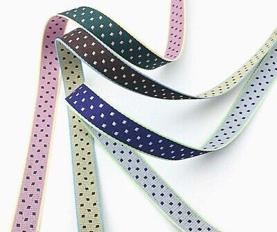 Polka Dot Double-Sided Ribbon Luxurious Gift Wrapping Purple Green Brown