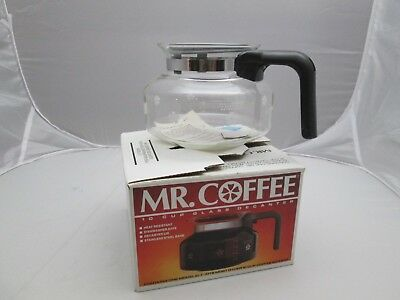 Mr Coffee Replacement Decanter Model D7 New 10 Cup Gl W Handle Black