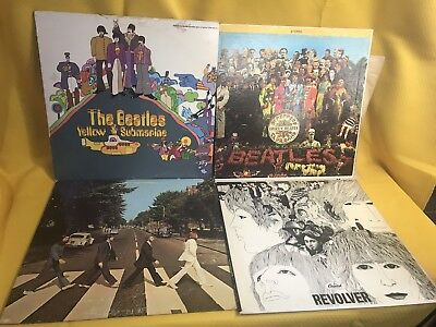 The Beatles LPs Lot 4 Revolver Peppers Abbey Road Yellow Submarine Vinyl Records