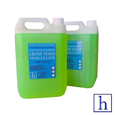 APPLE BLAST HI FOAM SNOW FOAM SHAMPOO 10 Litre Drum Car Vehicle Wash 10L HUMAC