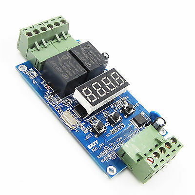 Dual Programmable Relais Control Board Cycle Delay Timer Switch Module 12V AHS