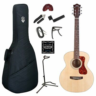 de748f80254 GUILD JUMBO JUNIOR Acoustic Electric Guitar Deluxe Bundle - $399.99 ...
