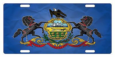 Pennsylvania State FLAG  License Plate Commonwealth Emblem Paper Version
