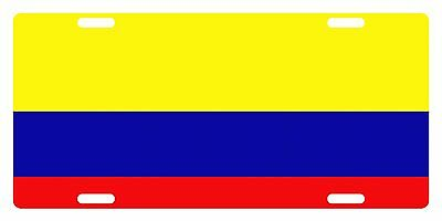 Colombia Flag Custom License Plate Colombian Emblem Original Version