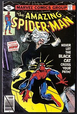 Amazing Spider-Man #194 1st Black Cat Great Condition
