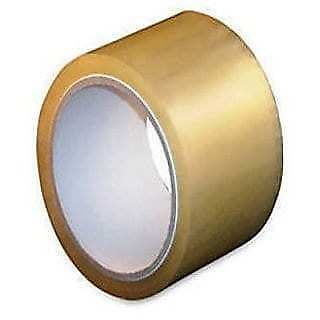 6 Rolls Hotmelt Clear Packing 1.8 Mil Shipping Box Tapes 3-inch x 110 Yards
