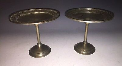 Pair of Vintage International Sterling Silver Wedgwood T47 Compotes