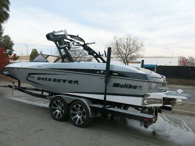 2015 Malibu 24MXZ Wake Seter 410-555HP burned damaged clean-title Low Reserve 15