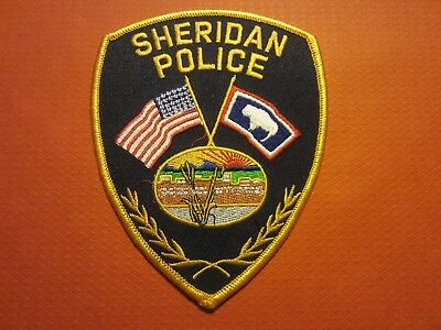 Collectible Wyoming Police Patch, Sheridan, New
