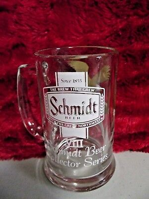 Clear Glass Schmidt Beer Collector Series Viii Beer Mug With Graphic Eagle