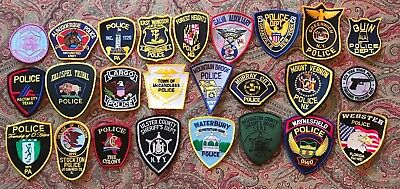 >> 25<< TWENTY-FIVE ALL DIFFERENT U.S. POLICE SHERIFF PATCHES STATE PATCH n1