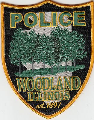 Woodland Illinois Il Police Shoulder Patch (Nice)
