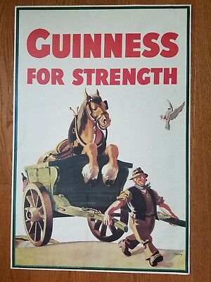 Vintage look Guinness For Strength poster horse Copyright 1949 Guinness Museum