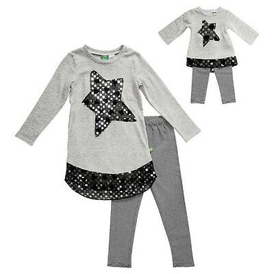 "NWT Gray Girls Dollie & Me Matching Doll outfit fits 18"" American Girl Size 6"