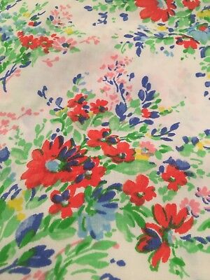 vintage floral fitted twin sheet