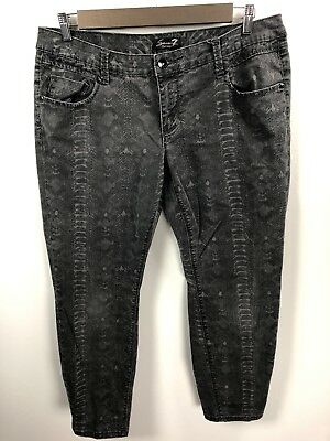 bdc3754358be6 SEVEN 7 LUXE Womens Torn Glitter Boot Cut Jeans Plus Size 18 ...
