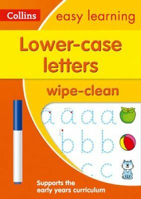 Lower Case Letters Age 3-5 Wipe Clean Activity Book (Collins Easy Learning...