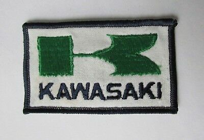 "Vintage 70's Kawasaki Embroidered Patch 2"" x 3  3/8""  Free Shipping"