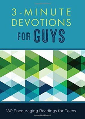 3-Minute Devotions for Guys: 180 Encouraging Readings... by Compiled by Barbour