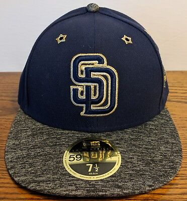 factory authentic 20717 d20e0 SAN DIEGO PADRES All-Star Game 2016 Low Profile New Era 59FIFTY Hat Size 7