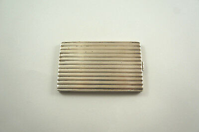 Large Vintage / Antique 875 Solid Russian Silver Cigarette Case - Ribbed, 176g