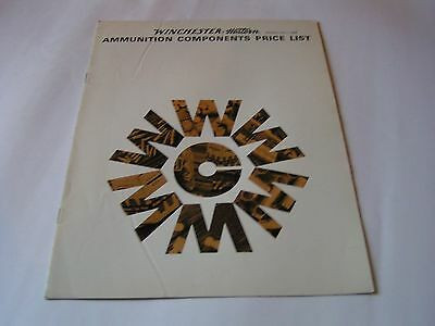 1968 Winchester Western Ammunition Components Price List