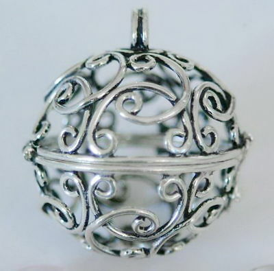 364 Cage solid 925 sterling silver pendant rrp $89.95