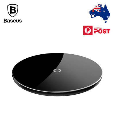 Baseus 10W Fast Qi Wireless Charger Pad For iPhone XR XS Max Samsung S9 Note 9 8