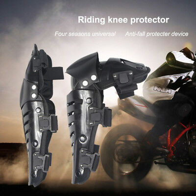 2pc Motorcycle Elbow Knee Pads Armour' Support Shin Guard Racing Protective Gear