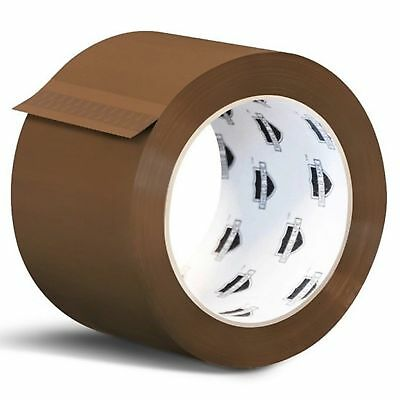 144 Rolls Brown Tan Acrylic Packing Tape Shipping 3-inch Wide 1.8 Mil 55 yards