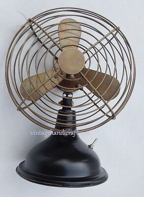 Nautical Working Table Fan Collectible in Brass & Iron, Antique Gifted Table Fan