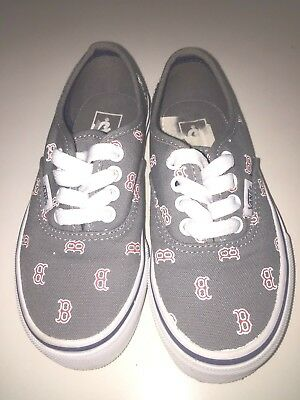 3ab471e03304 Vans Authentic V Lace Boston Red Sox Toddler Size 11 Shoes