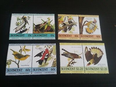 Stvincent 1985 Sg 854-861 Birth Bicent Of J Audubon Mnh (B)