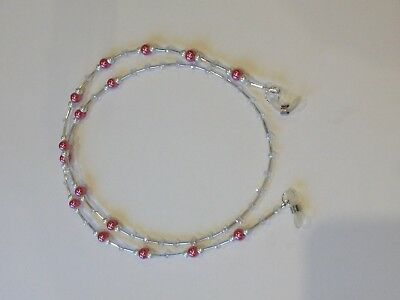 Handmade Beaded Glasses Chain/Spectacles Chain in Pink & White