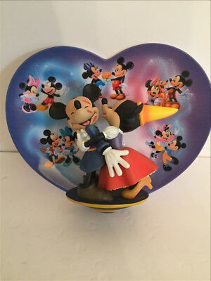 3D Walt Disney Remember the Magic Mickey Minnie Mouse Plate Bradford COA SG061