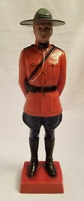 Vintage Reliable Hard Plastic Canadian Mountie Figure 8""
