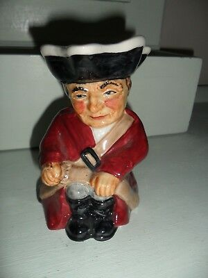 "Vintage Staffordshire Roy Kirkham Soldier 782 Toby Jug. 5"". Very good condition."