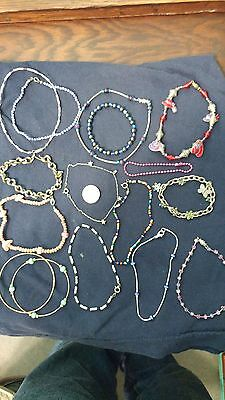 Vintage lot of Bracelets all are Wearable, Re-sell or Re-purpose 15 Pieces
