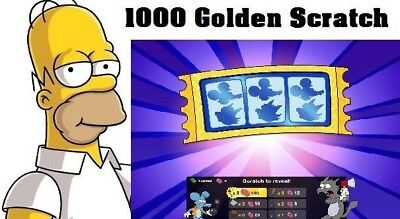 Simpsons Tapped out - 1000 Golden Scratch