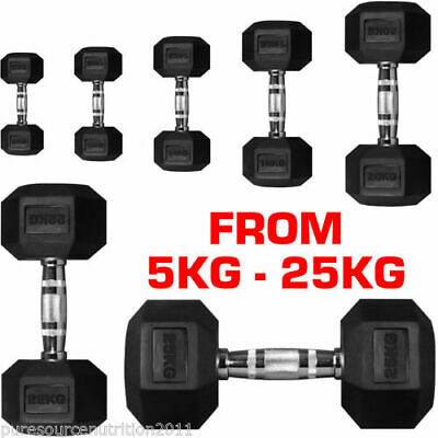 HEX Dumbbell Set Weight Workout Biceps Triceps 15kg / 20kg / 30kg / 40kg / 50kg