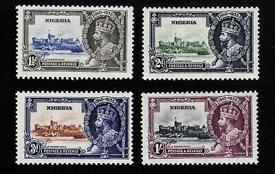 NIGERIA #34-37 Mint Hinged 1935 SILVER JUBILEE Complete Set of 4