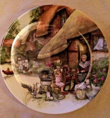 'THE SPINNER' Royal Doulton Bone China Collectors Plate - Old Country Crafts -