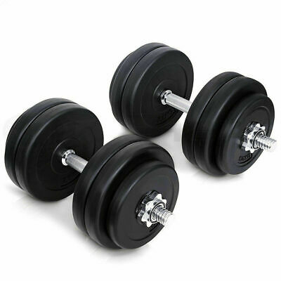 20Kg Dumbbell Set Weights Training Gym Workout Fitness Home Muscle Bodybuilding